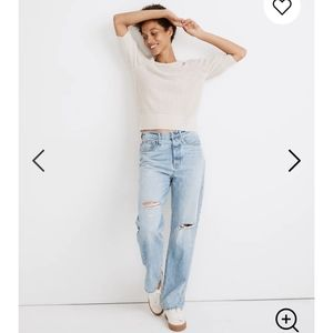 Madewell the Dad Jean Ripped Edition